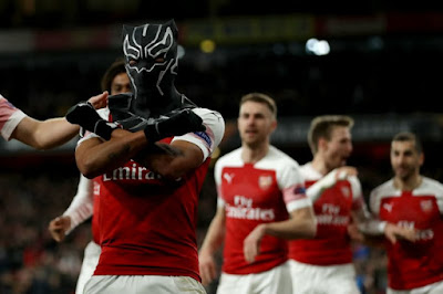 Wakanda Forever! Aubameyang Leads Arsenal To Europa's Next Round with Black Panther-Esque Celebration