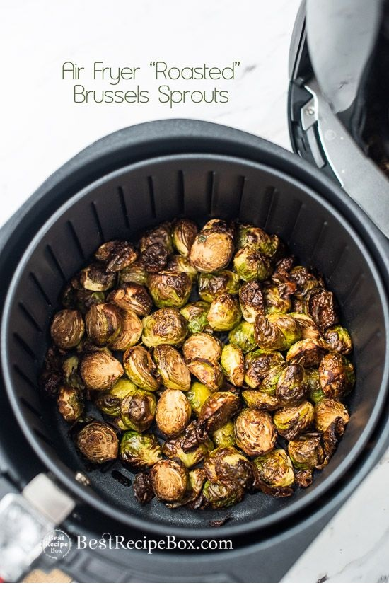 Crispy Air Fryer Roasted Brussels Sprouts