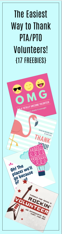 Look no further for an easy way to thank your volunteers! From PTA/PTO and school volunteers and beyond, snag these awesome freebies to show your appreciation for all that your volunteers do!