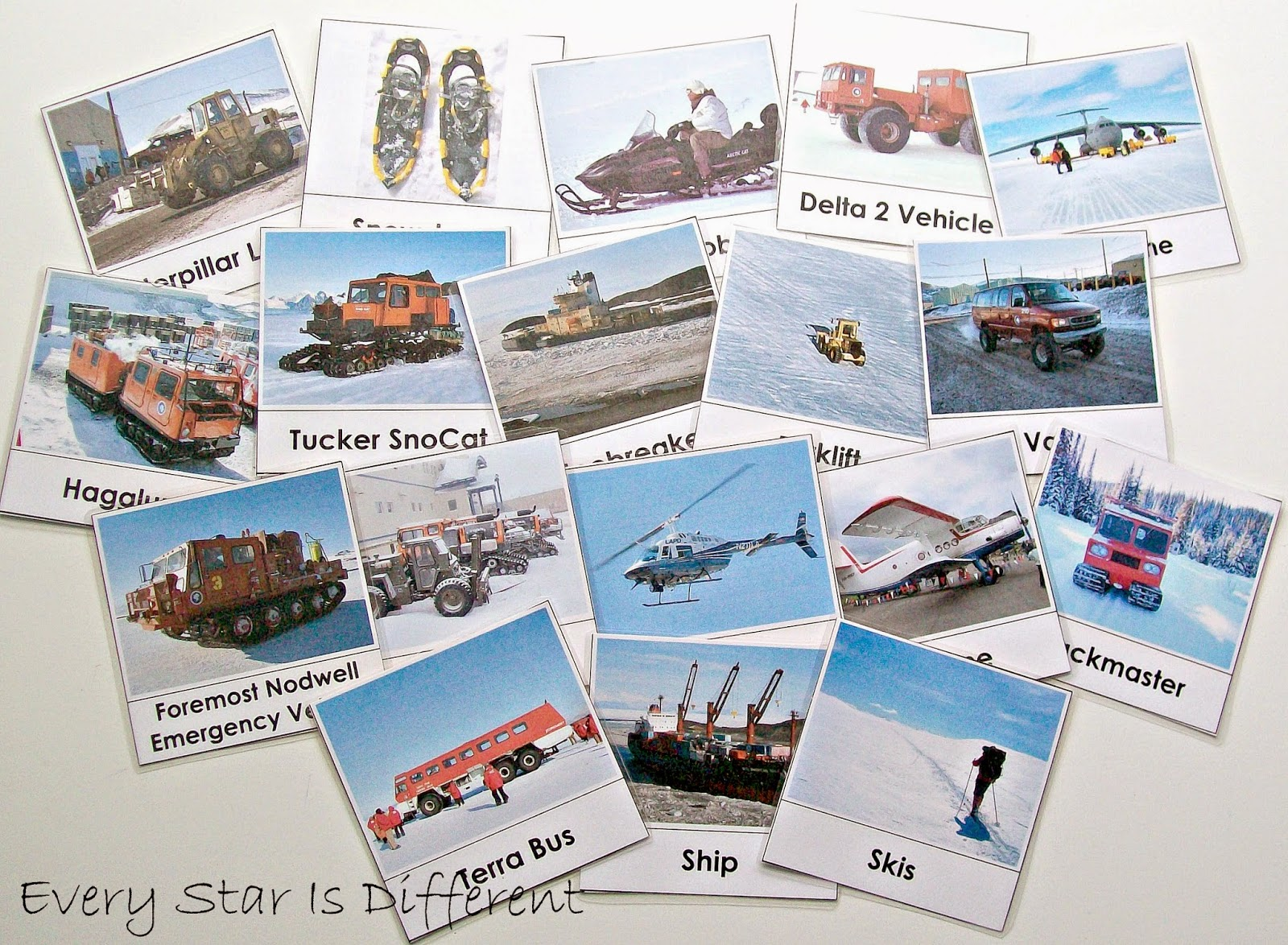 Transportation in Antarctica Cards
