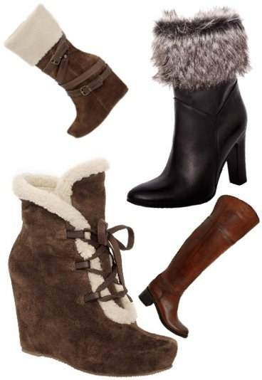 678a11c87db5e Szare buty z futerkiem, cena: 729,00zł. Brązowe buty za kostkę z futerkiem,  cena: 839,00zł