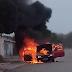 Jaguarari: Veiculo pega fogo no distrito de Santa Rosa de Lima