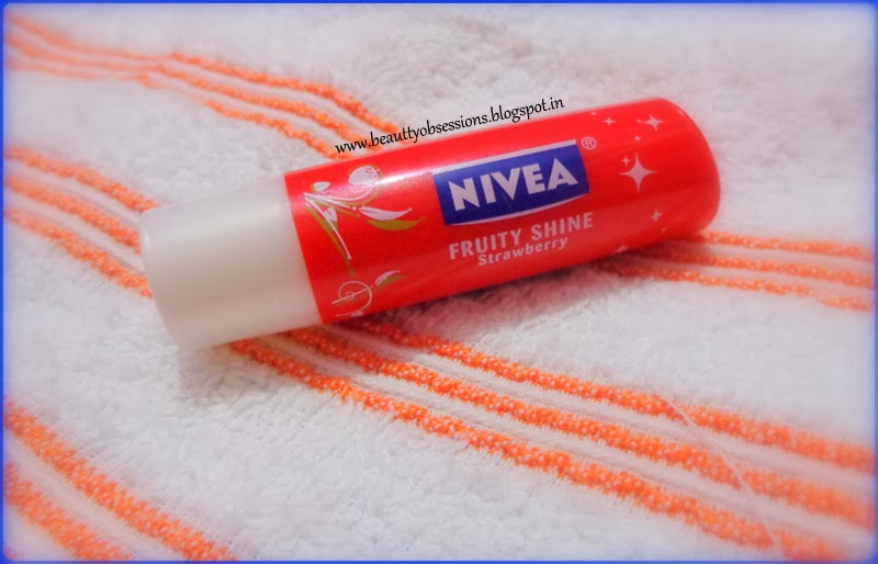 Review on Nivea  Fruity Shine Strawberry Lip Balm