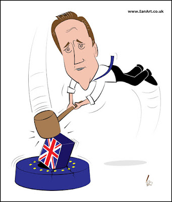 David Cameron - Putting a Square peg in a Round Hole!