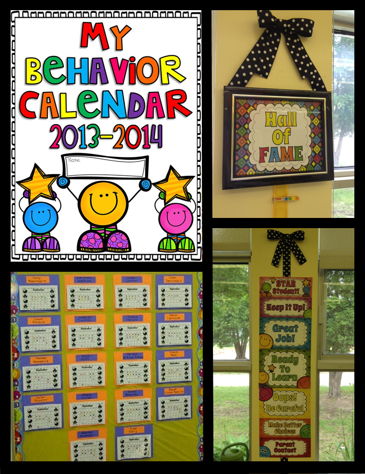 Behavior Management Calendars And A Clip Chart