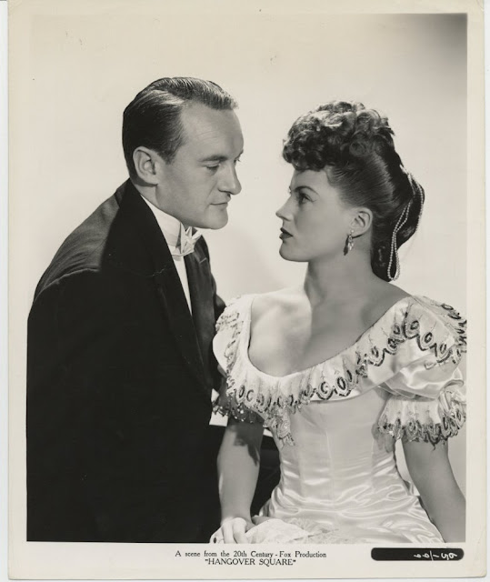 George Sanders and Faye Marlowe in Hangover Square (1945)
