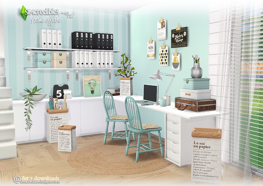 My Sims 4 Blog Home Office Set By Simcredible Designs