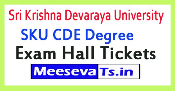 Sri Krishna Devaraya University SKU CDE Degree Exam Hall Tickets 2017