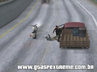 Mod Saltar da Moto em Movimento para um Carro para GTA San Andreas
