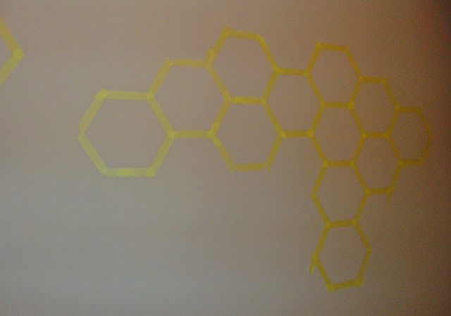 malowanie plastrów miodu