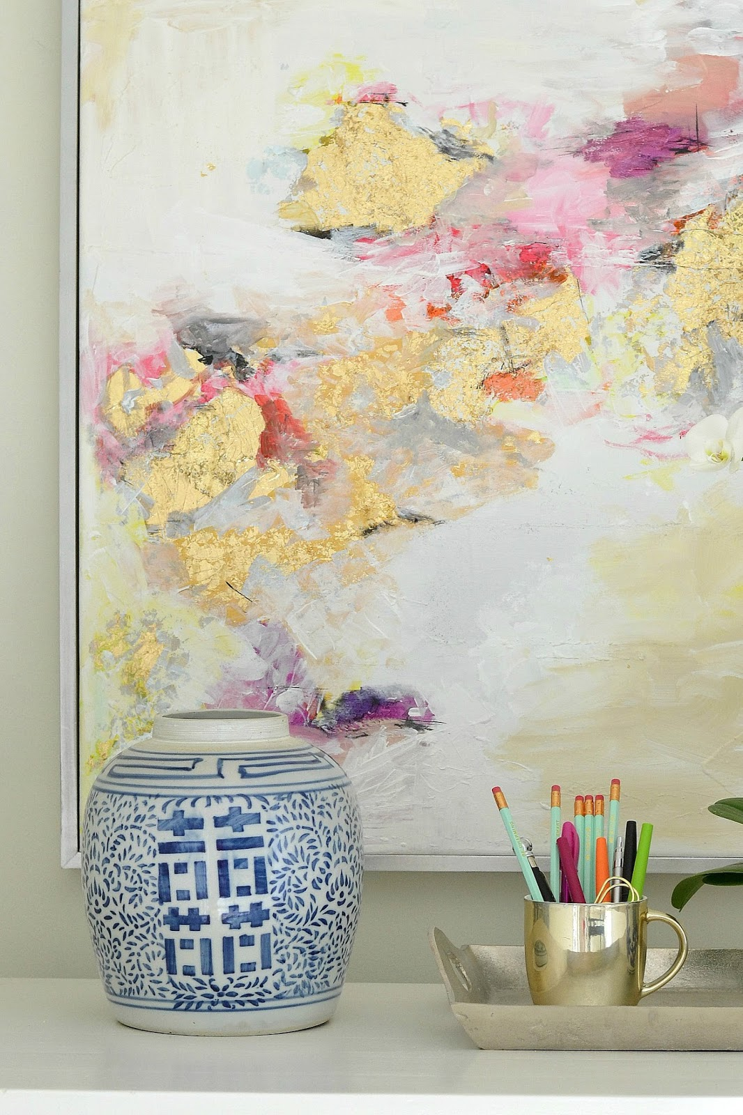 Schilderij Abstract Interieur How To Make Gold Leaf Art Round Two Livelovediy