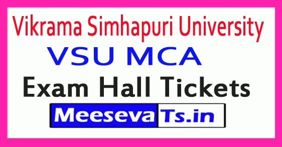 Vikrama Simhapuri University VSU MCA Exam Hall Tickets