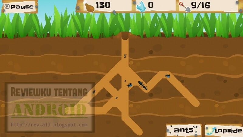 Mulai bermain game android Ant Warz - bangun koloni semut yang kuat dan jadilah pemenang (rev-all.blogspot.com)