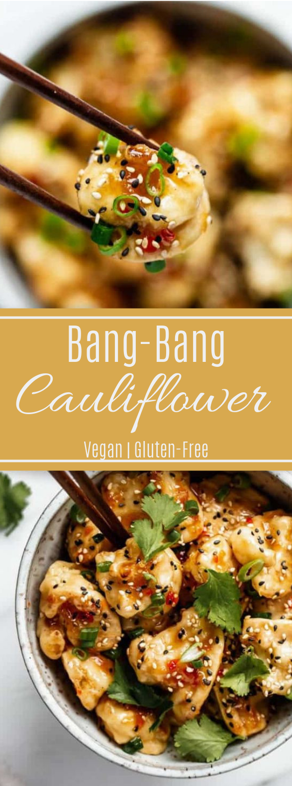 Bang Bang Cauliflower #appetizer #vegansnack