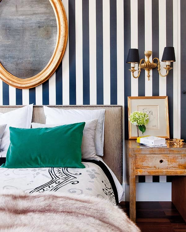 Master Bedroom Wallpaper Accent Wall: Eat. Sleep. Decorate.: An Accent Wall With Wallpaper
