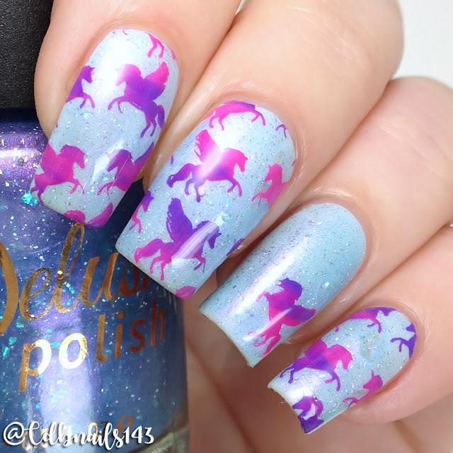 Delush Polish- Unicorn Sparkle DP07 Stamping Plate