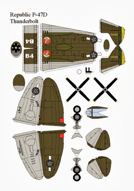 Molde de avião de guerra Thunderbolt