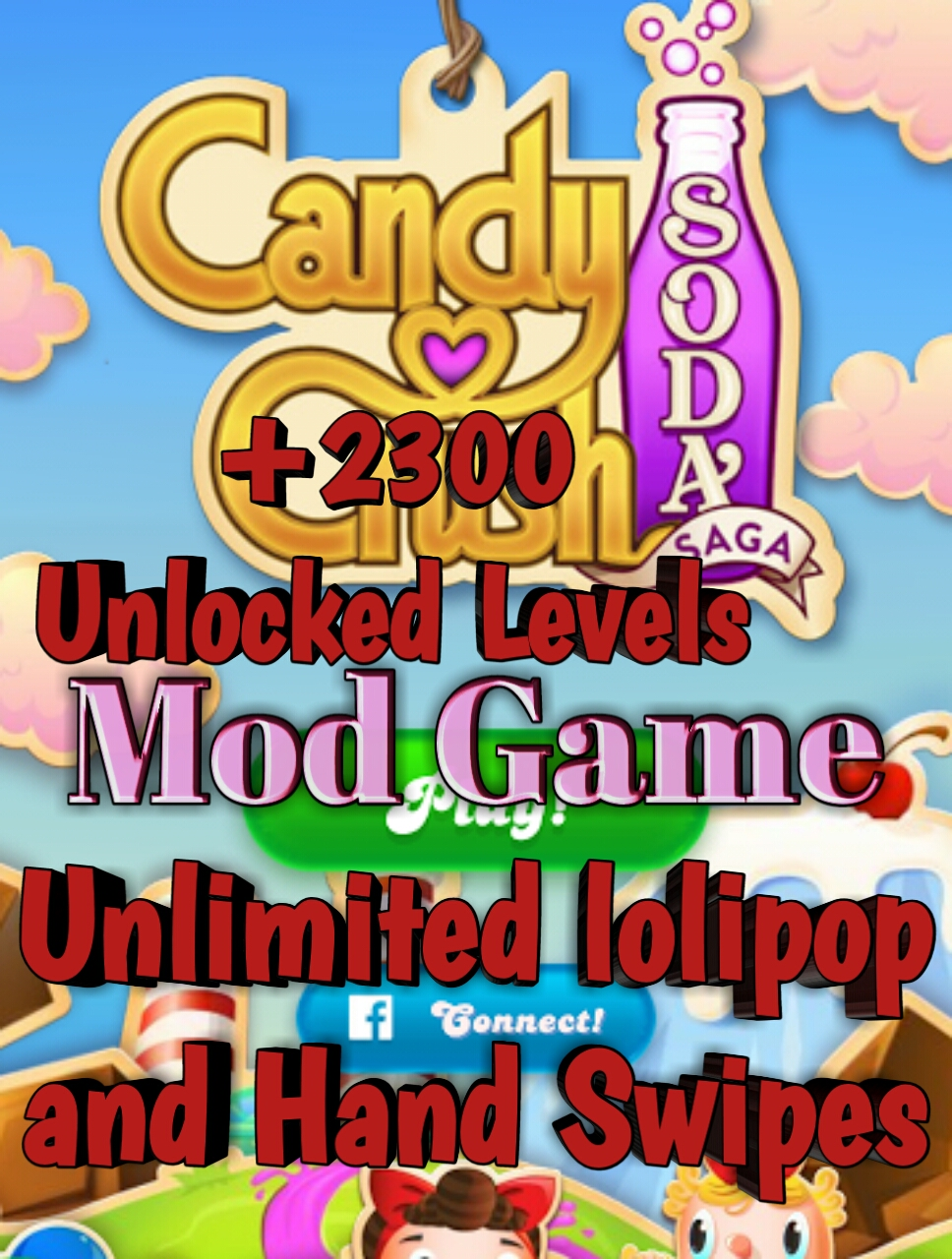 Candy crush soda saga game unlimited lollipop and hand - 1600 candy crush ...