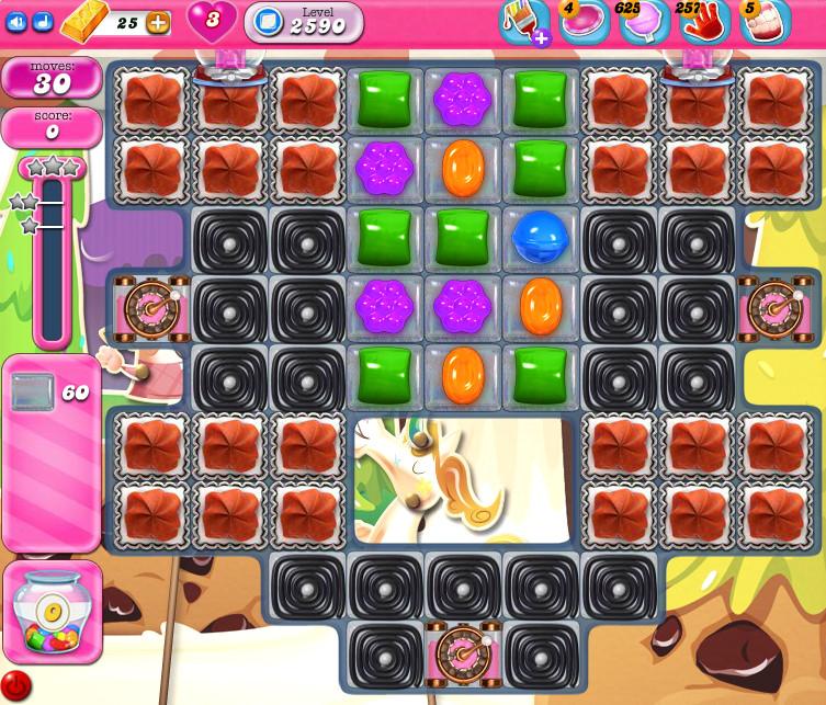 Candy Crush Saga level 2590