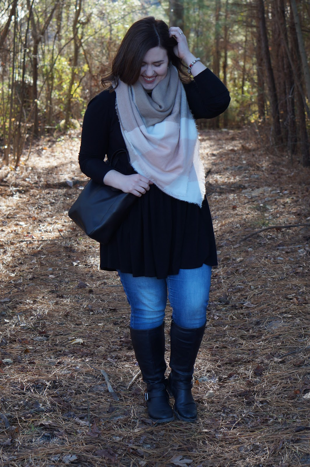 BLACK & DENIM WITH NISOLO by North Carolina style blogger Rebecca Lately