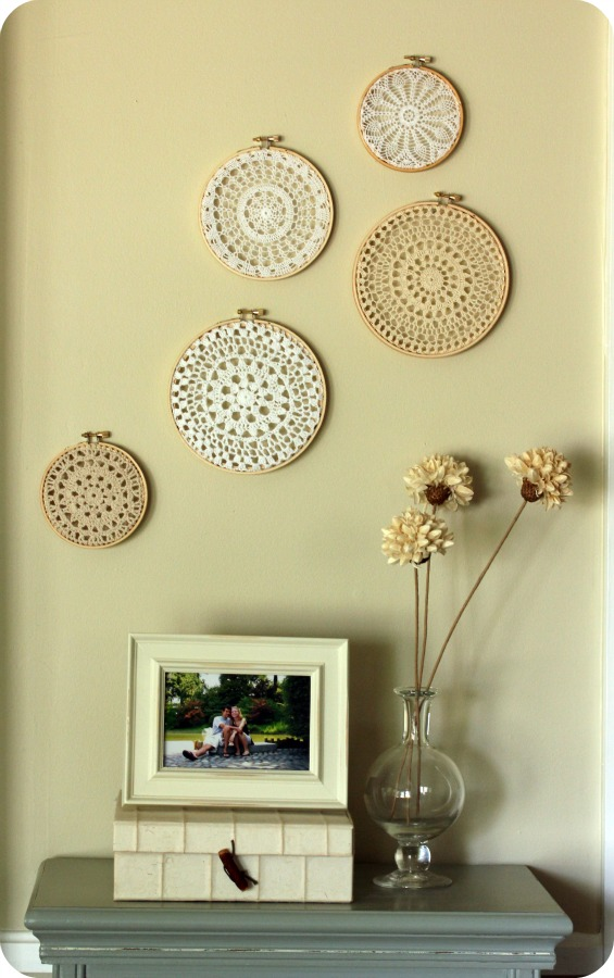 little lovelies: doily wall art