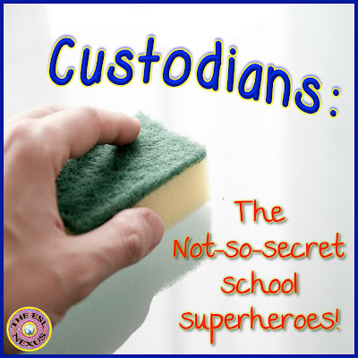 Custodians are the superheores of summer in US schools! Show your appreciation & find some classroom decor in the August ELL linky party. | The ESL Connection
