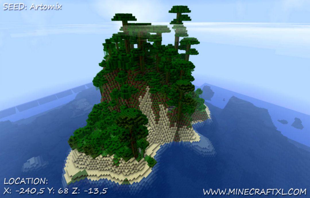 Minecraft survival island house
