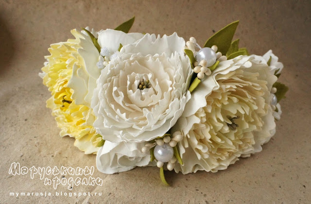 цветы в прическе невесты