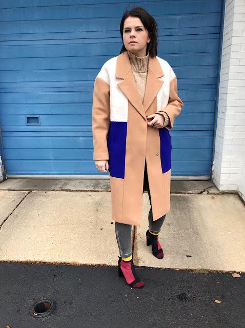 Color block coat!