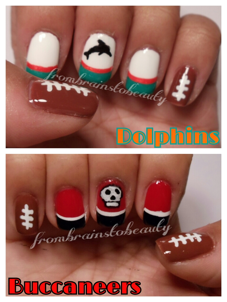 From Brains To Beauty: Nail Tutorial | Miami Dolphins vs ...