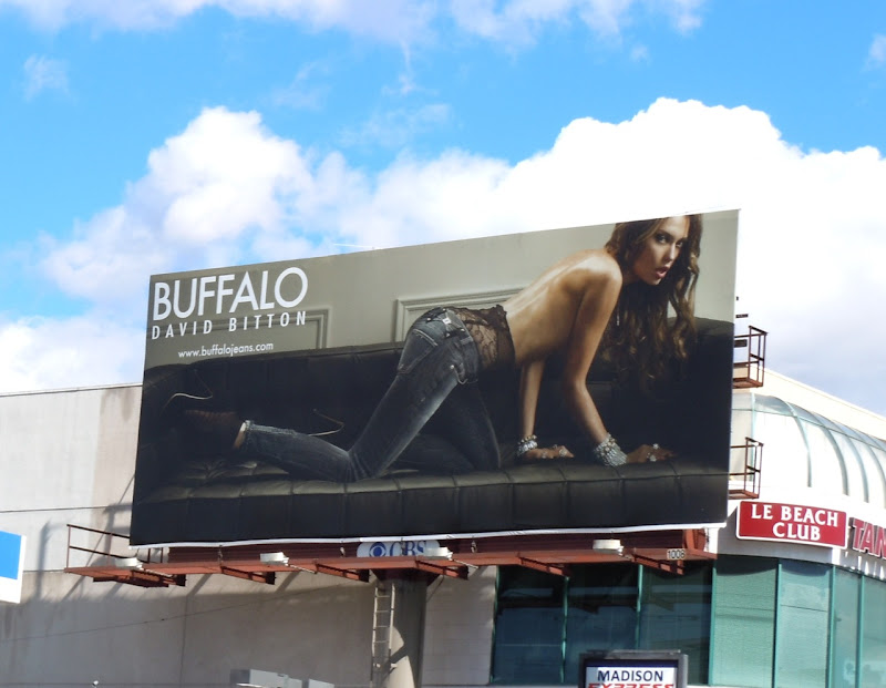 Buffalo Jeans model billboard