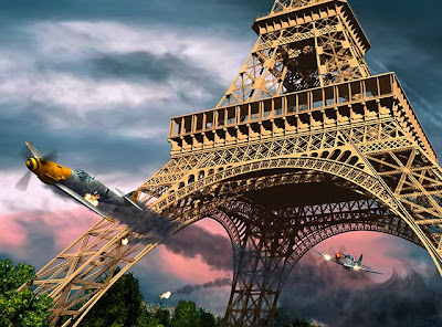 william overstreet jr, bill overstreet, eiffel tower, paris, france, world war ii, messerschmitt