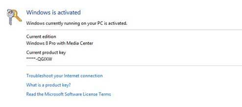 windows 8 pro with media center build 9200 product key