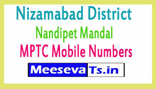 Nandipet Mandal MPTC Mobile Numbers List Nizamabad District in Telangana State