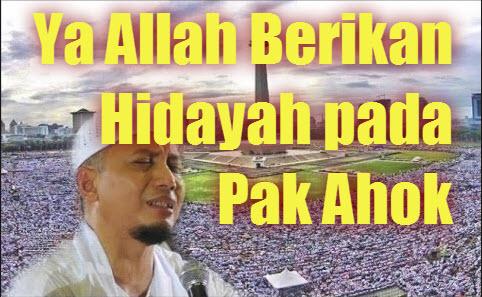Doa Arifin Ilham Ahok dapat Hidayah Masuk Islam