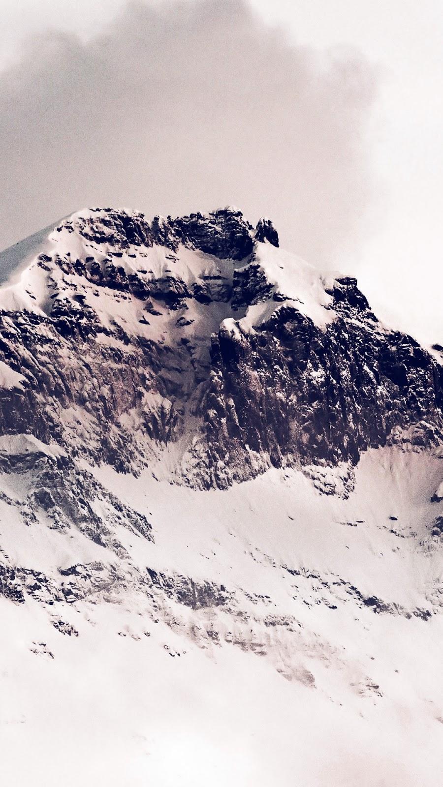 Papel de parede grátis Paisagem Natural Montanhas no Inverno para PC, Notebook, iPhone, Android e Tablet.