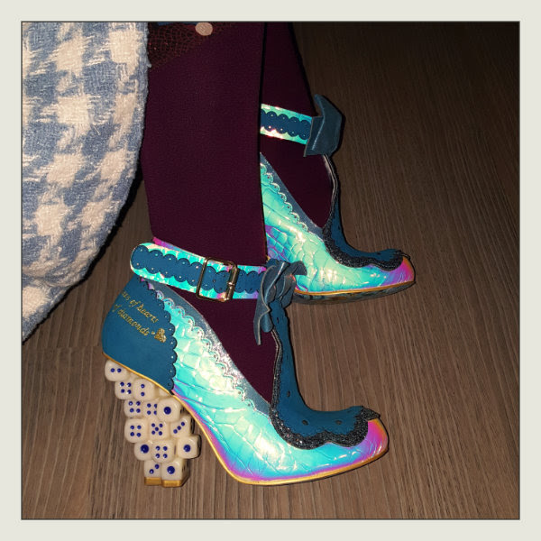 wearing irregular choice take a chance dice heels