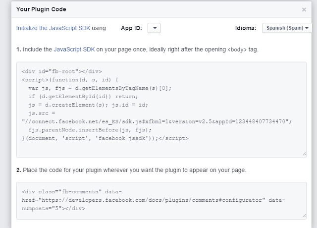 Caja de Comentarios de Facebook para Blog. 12