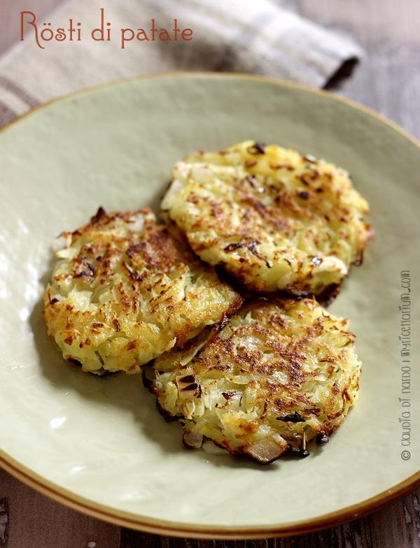 rösti di patate con cipolla