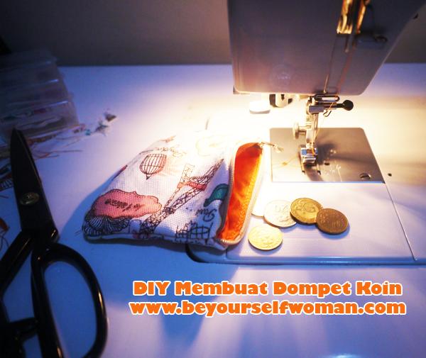 DIY tutorial membuat dompet koin resleting