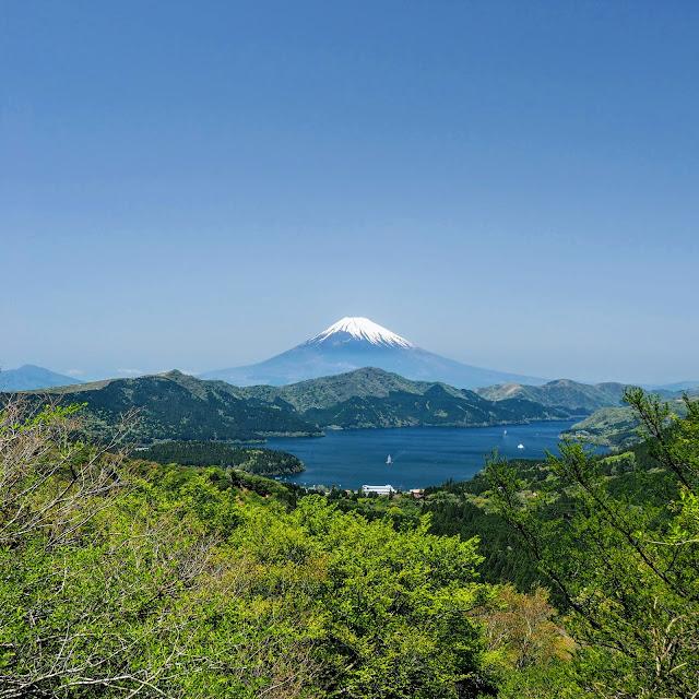 大観山 天覧台 芦ノ湖 富士山