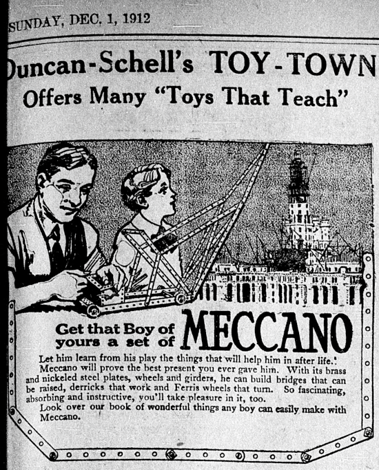 Meccano advertisement 1912