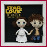 Leia y Han Solo amigurumis