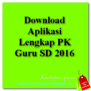 Download Aplikasi Lengkap PK Guru 2016