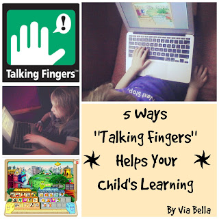 Talking Fingers, ESL, 5 Ways Talking Fingers Helps Your Child's Learning, homeschool, homeschool family, kids, reading, writing, typing, motor skills, phonics, product review, tos crew