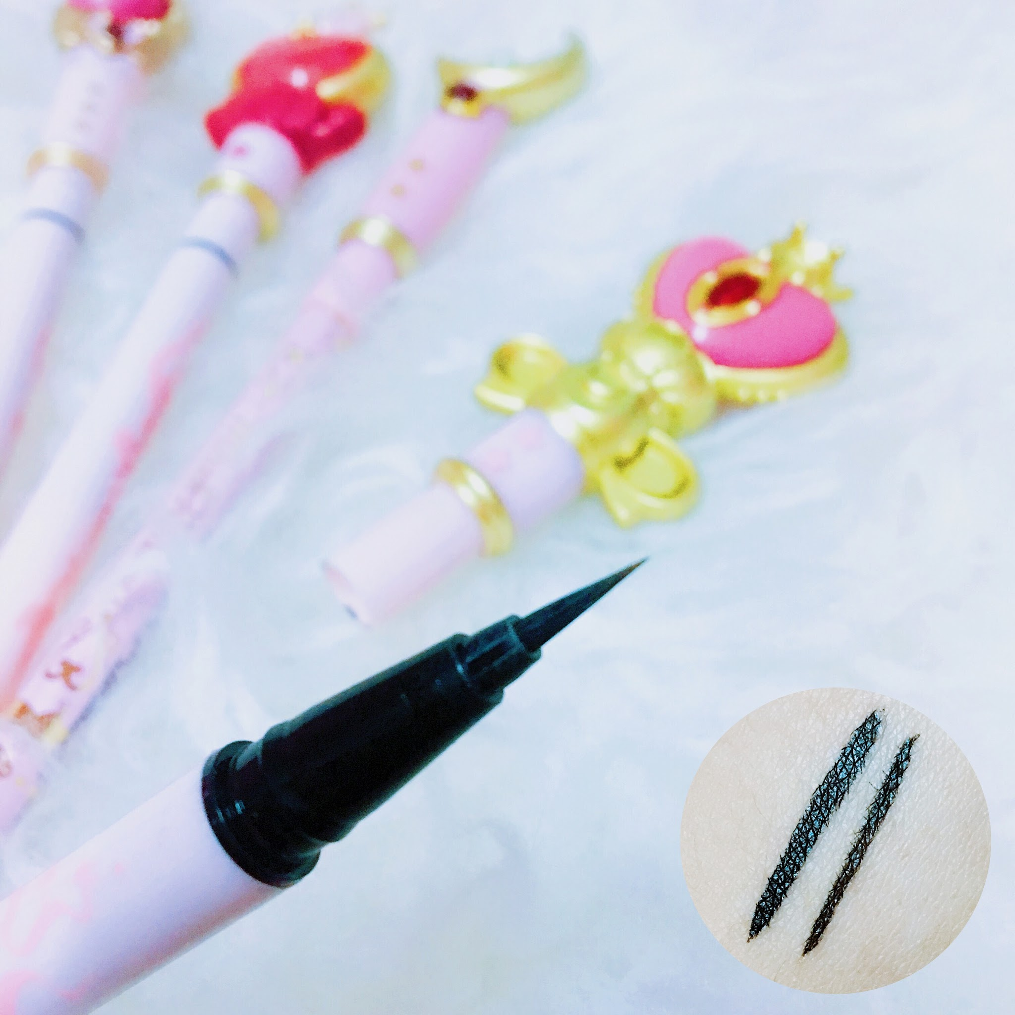 Sailormoon Miracle Romance Eyeliners; Sailormoon Miracle Romance Liquid Eyelibers; Miracle Romance Sailormoon Eyeliner Review