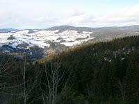 Blick vom Hornbergbecken (Speichersee) auf den südlichsten Schwarzwald