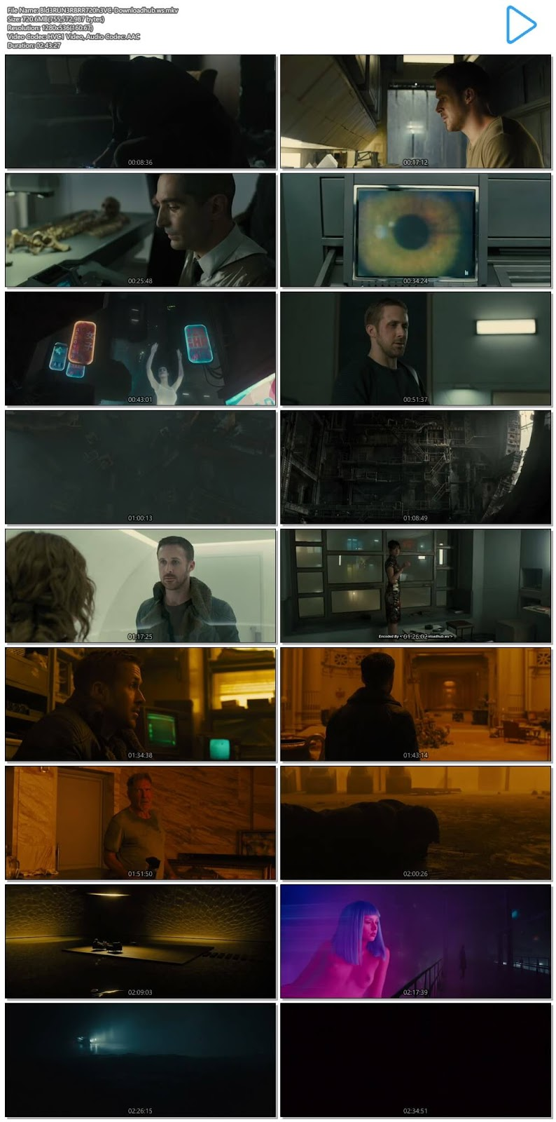 Blade Runner 2049 2017 English 720p HEVC BRRip ESubs