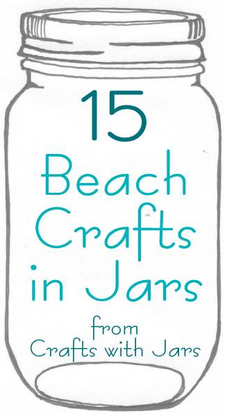 Poured Paint Beach Themed Jar From The Country Chic Cottage