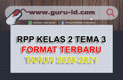 gambar RPP kelas 2 tema 3 terbaru 2020-2021